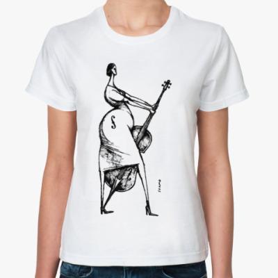 Классическая футболка Виолончель (женская)