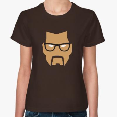 Женская футболка Gordon Freeman minimalistic