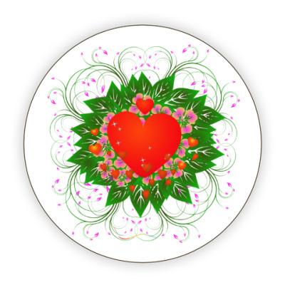 Костер (подставка под кружку) Heart Flower