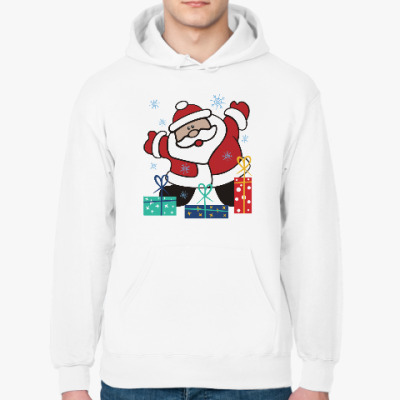 Толстовка худи Дед Мороз с подарками