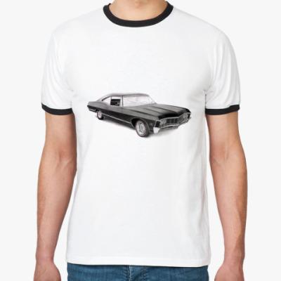 Футболка Ringer-T Impala  М (бел/чёрн)
