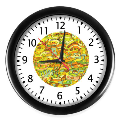 Настенные часы Пёстрое время