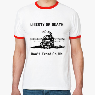 Футболка Ringer-T Liberty Or Death
