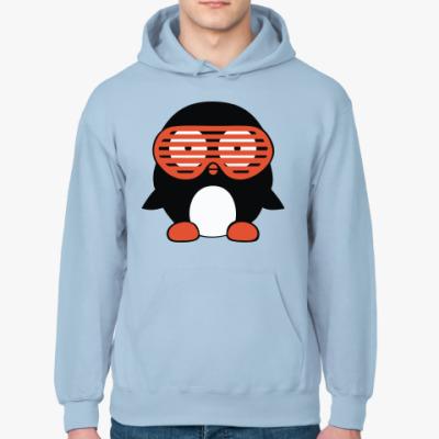 Толстовка худи Пингвин в очках жалюзи