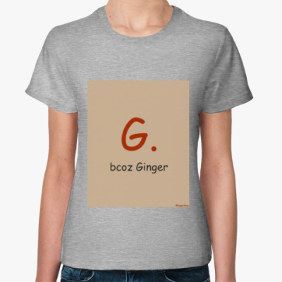 Женская футболка Ginger