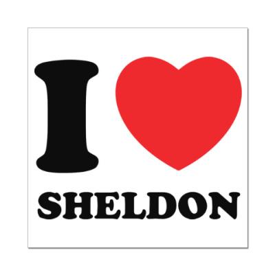 Наклейка (стикер) I Love Sheldon