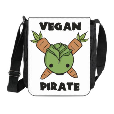 Сумка на плечо (мини-планшет) Веган пират