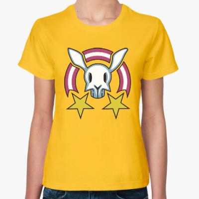 Женская футболка Звездный заяц