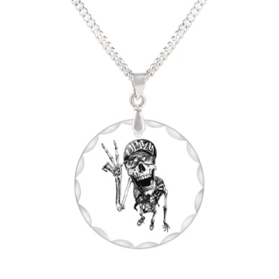 Кулон Thrash-скелет