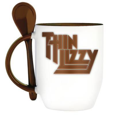 Кружка с ложкой Thin Lizzy