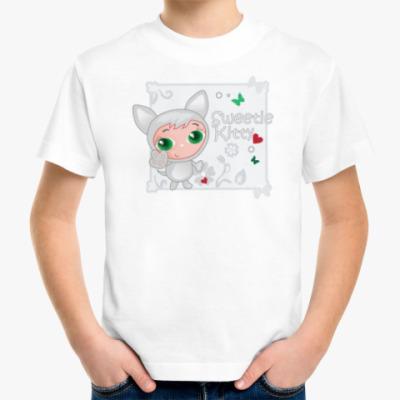 Детская футболка Сладкий котенок