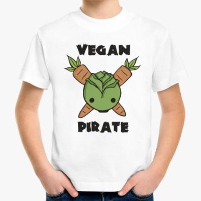 Детская футболка Веган пират