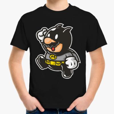 Детская футболка Марио Супергерой