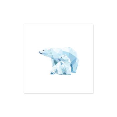 Виниловые наклейки Белые медведи