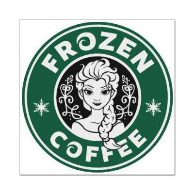 Наклейка (стикер) Frozen coffee