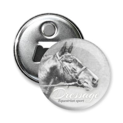 Магнит-открывашка Конный спорт, лошади. Dressage