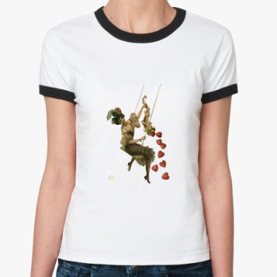 Женская футболка Ringer-T ВИНТАЖ