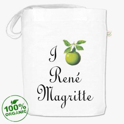 Сумка Я люблю Рене Магритта (яблоко)