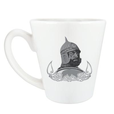 Чашка Латте витязь, воин, солдат.