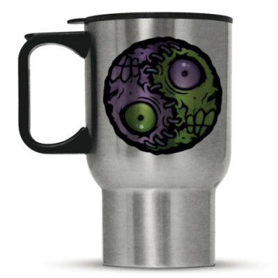 Кружка-термос Зомби инь-ян