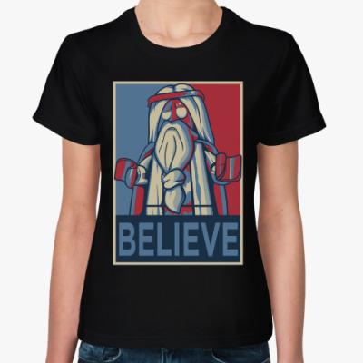 Женская футболка BELIEVE