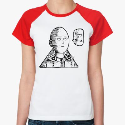 Женская футболка реглан Ванпанчмен One Punch Man