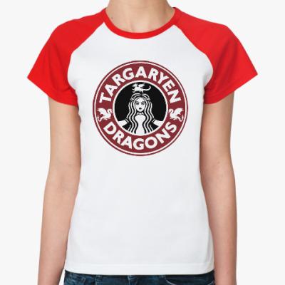 Женская футболка реглан Драконы Таргариен