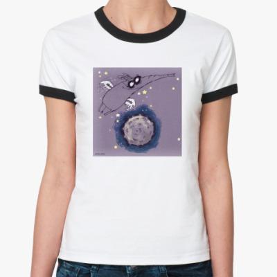 Женская футболка Ringer-T Летающий слон