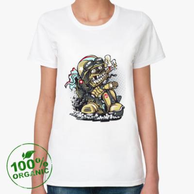 Женская футболка из органик-хлопка Байкер