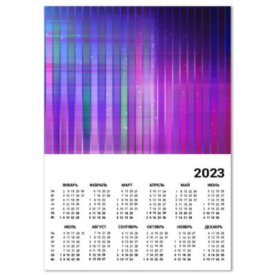 Календарь Космос в полоску