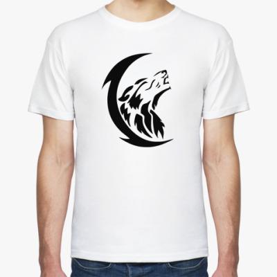 Футболка Волк и луна