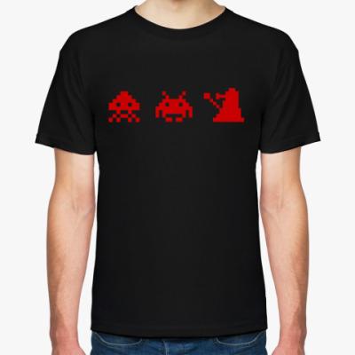 Футболка Dalek & Space Invaders