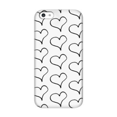 Чехол для iPhone 5c Чернильное сердце