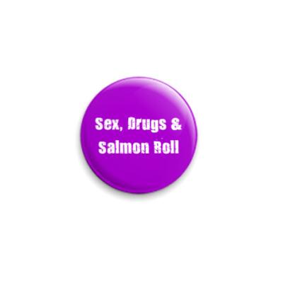 Значок 25мм  Salmon Roll
