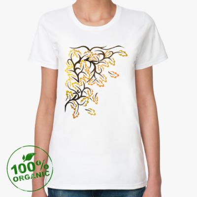 Женская футболка из органик-хлопка Осень