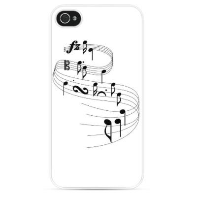 Чехол для iPhone танцующие ноты