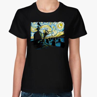 Женская футболка Звездая Ночь Хеллоуина