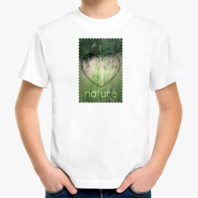 Детская футболка  I Heart Nature