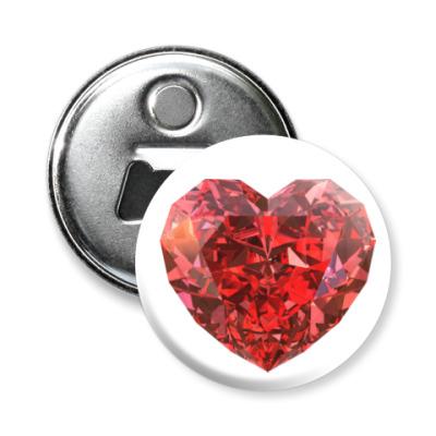 Магнит-открывашка I love you - Любовь в сердце