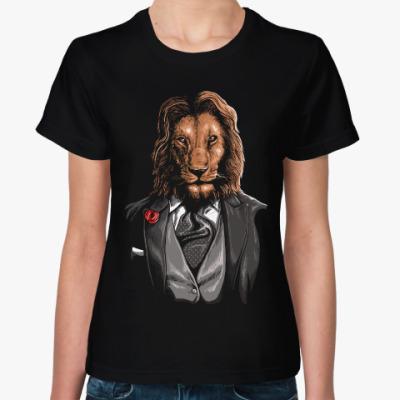 Женская футболка Мистер Лев
