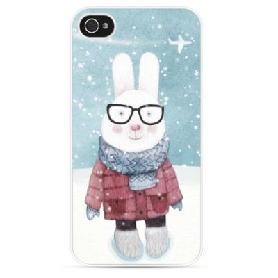 Чехол для iPhone Заяц в очках