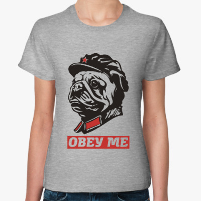 Женская футболка Obey the doggy