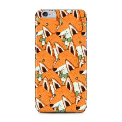 Чехол для iPhone 6 Plus Любовь к лисичкам