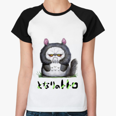 Женская футболка реглан Тоторо