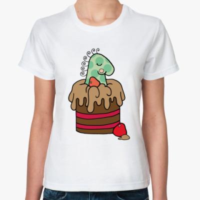 Классическая футболка  Шоколадный кекс