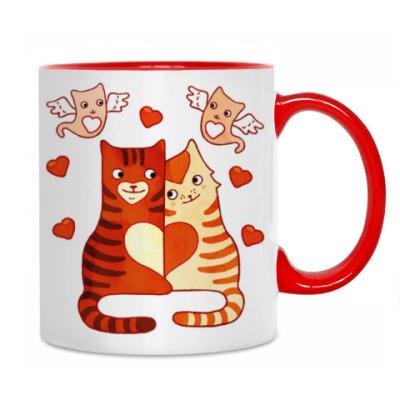 Котики и сердечки на День Влюбленных 14 февраля
