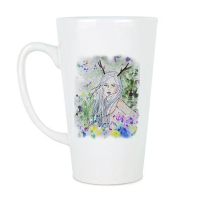 Чашка Латте Лесная фея, эльф