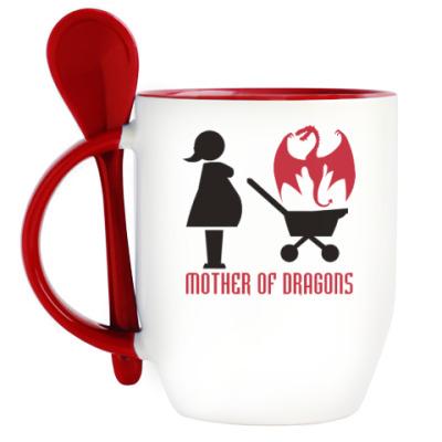 Кружка с ложкой Мать драконов