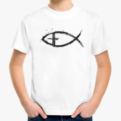 Детская футболка христианская рыбка