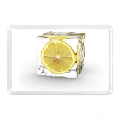 Магнит Лимон и лед